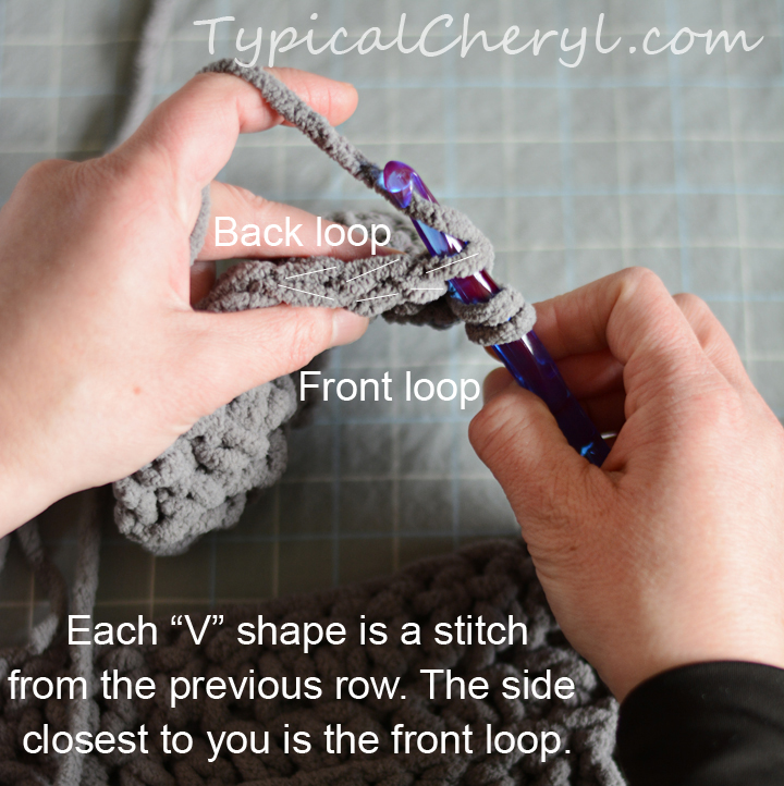 Crocheting In Back Loops Only : ... in the back loop only working in the back loop creates the line detail