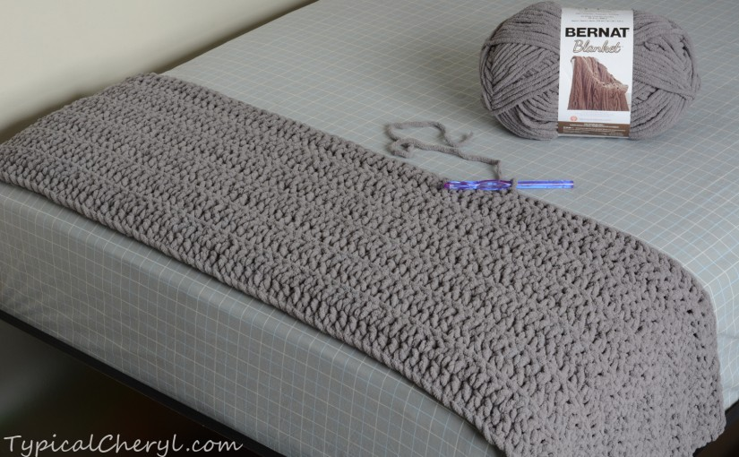 Crochet Patterns Bernat Blanket Yarn : Simple, Soft, Chunky Crochet Blanket