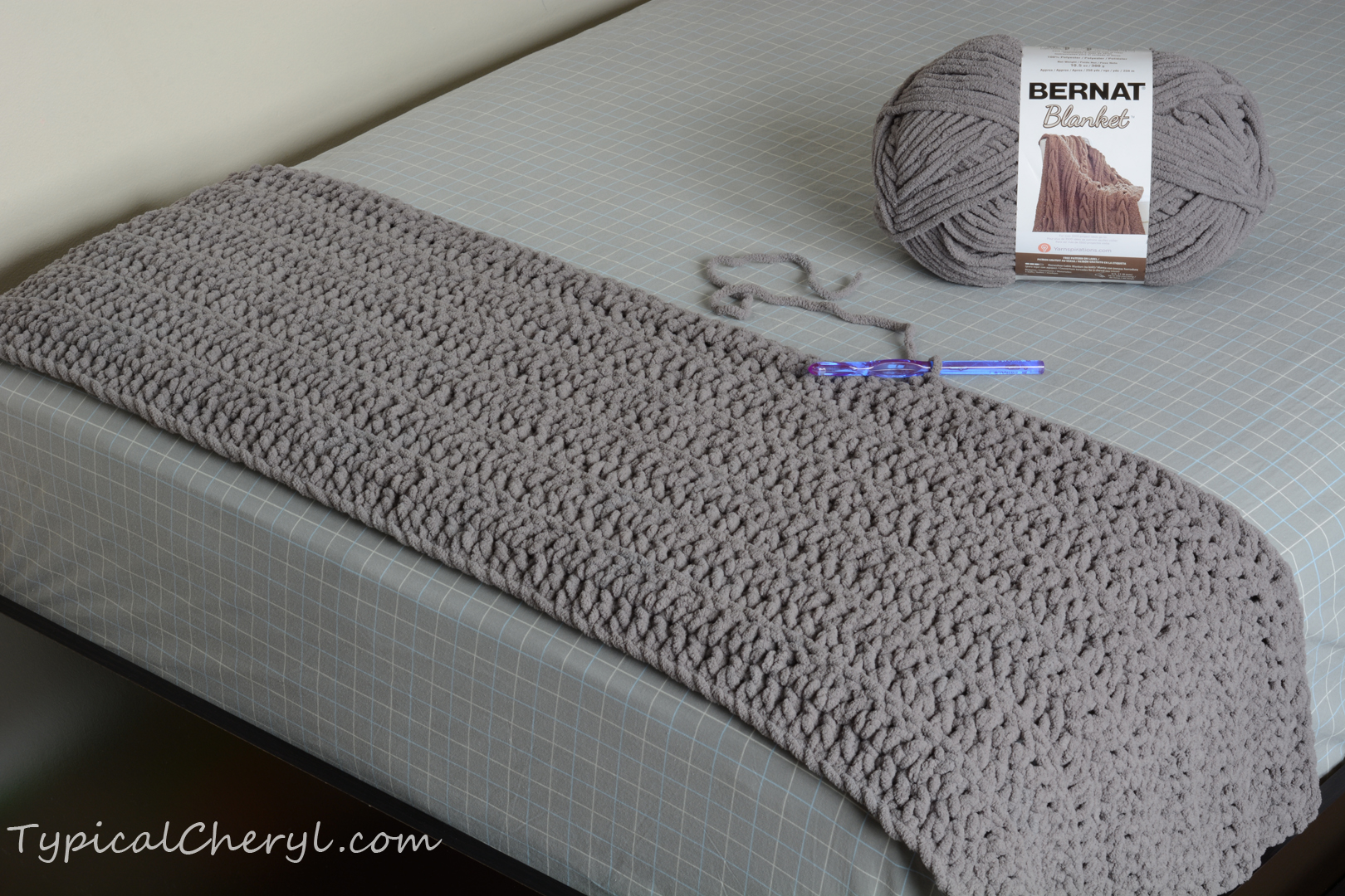 A Simple, Soft, Chunky Crochet Blanket | Typical Cheryl