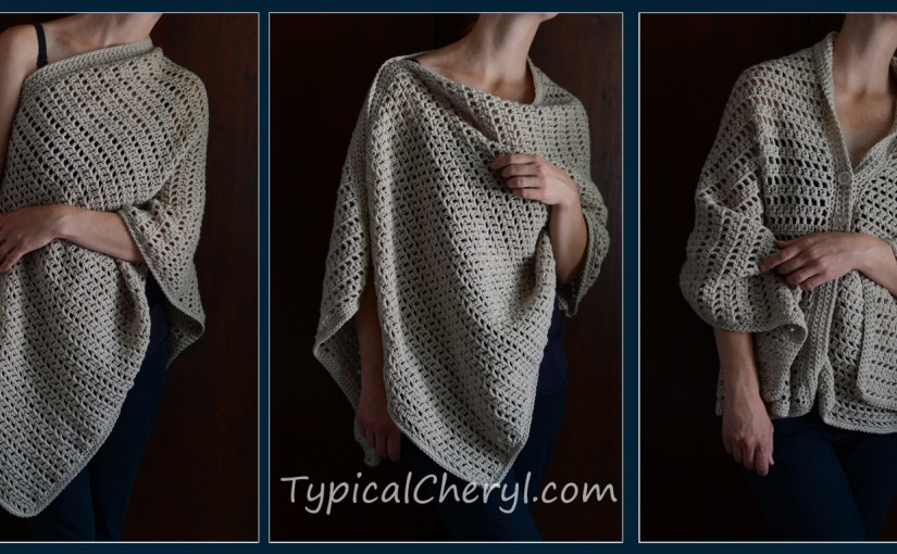 Simple Crochet Wrap - Free Pattern | Typical Cheryl