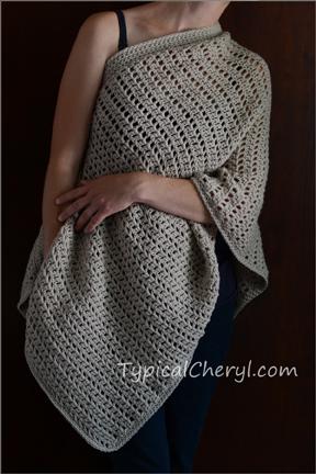 Simple Crochet Wrap - Free Pattern   Typical Cheryl